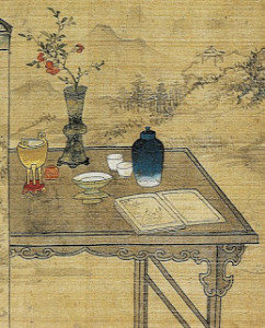 Détail d'une peinture de Xu Guan 徐莞 (XVIIIe s.) [Le palais du printemps (2006, p. 157)]